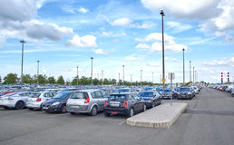 Charles De Gaulle Airport Parking royalty free stock photography