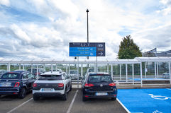 Charles De Gaulle Airport Parking stock image