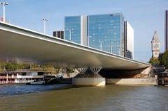 Charles de Gaulle bridge in Paris Royalty Free Stock Images