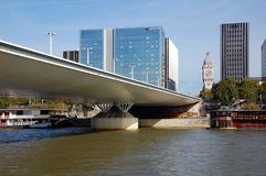Charles de Gaulle bridge in Paris Royalty Free Stock Images