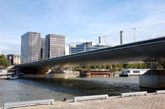 Charles de Gaulle bridge in Paris Stock Photography