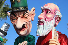 Charles de Gaulle and Moses - Carnival of Nice Royalty Free Stock Image