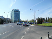 Charles de Gaulle Square in Bucharest, Romania. Stock Images