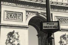 Charles de Gaulle square, Paris Royalty Free Stock Photo
