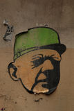 Charles de Gaulle stencil Fotografering för Bildbyråer