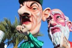 Charles de Gaulle und Moses - Karneval von Nizza Stockfotografie