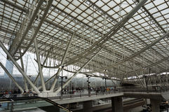 Charles Degaulle Airport Architecture Royalty Free Stock Photo