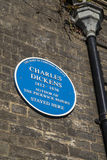 Charles Dicken Plaque in Bury St. Edmunds Royalty Free Stock Photography