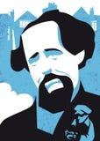 Charles Dickens, escritor británico y novelista ilustración del vector