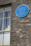 Charles Dickens Plaque in Bedecken-St. Edmunds stockfoto