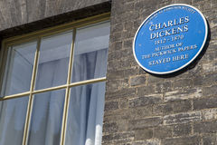 Charles Dickens Plaque in Bury St. Edmunds Stock Photography