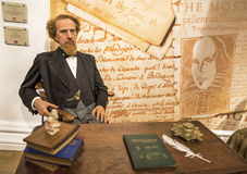 Charles Dickens. Wax figure in Madame Tussauds museum Stock Photo