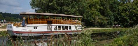 Charles E Mercer Tourist Barge no canal de C&O Imagem de Stock