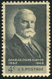 Charles Evans Hughes. UNITED STATES - CIRCA 1962: stamp printed by United states, shows Charles Evans Hughes, circa 1962 Stock Images