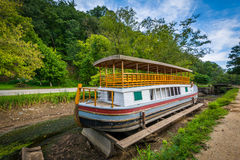 The Charles F. Mercer Canal Boat, at Chesapeake & Ohio Canal Nat royalty free stock photography