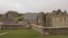 Charles-fort, een ster gevormd fort van 17de eeuw in Ierland stock videobeelden