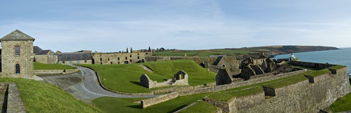 Charles Fort Kinsale. Panorame of the Charles Fotr in Knsale, Cork, Ireland Stock Image