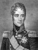 Charles X of France. (1757-1836) on engraving from 1859. King of France during 1824-1830. Engraved by G.Metzerotht and published in Meyers Konversations-Lexikon stock illustration