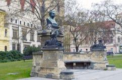 Charles fyrkant i Prague Royaltyfri Bild