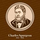 Charles Haddon Spurgeon 1834-1892 era un predicatore battista particolare inglese illustrazione vettoriale