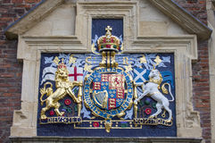 Charles I Coat of Arms at King's Manor in York Stock Image