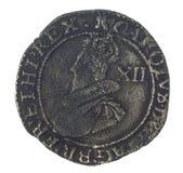 Charles I shilling Arkivfoton