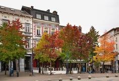 Charles II vierkant in Charleroi belgië Stock Foto