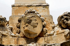 Charles III. on the Fountain of the Preachers, Aix-en-Provence,. France Stock Photos