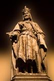 Charles IV άγαλμα της Πράγας Στοκ Εικόνες