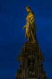 Charles IV Statue. A picture of the statue of Charles IV that adorns the east side of the Charles Bridge in Prague stock photography