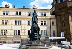 Charles IV Statue, Prague. Royalty Free Stock Images