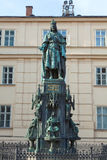 Charles IV statue  by the St. Francis Seraphicus Church  Prague, Stock Images
