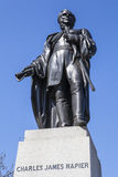 Charles James Napier Statue in Trafalgar Square Stock Image