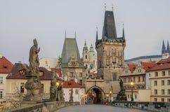 Charles (Karluv) Bridge in Prague (Czech Republic) Royalty Free Stock Image