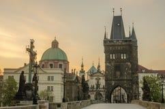Charles (Karluv) Bridge in Prague (Czech Republic) Royalty Free Stock Images