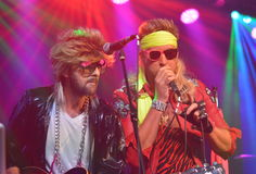 Charles Kelley and Dave Haywood from Lady Antebellum in costume Royalty Free Stock Photos