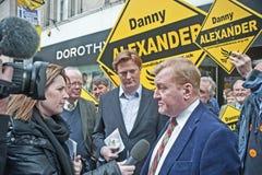 Charles Kennedy entrevistou na eleição 2015 Imagem de Stock