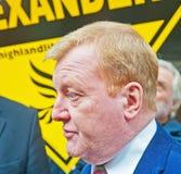 Charles Kennedy im Wahlkampf im Mai 2015 Stockfoto