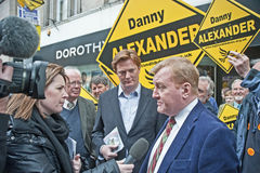 Charles Kennedy interviewte bei Wahl 2015 Stockbild