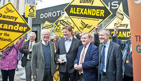 Charles Kennedy supporting colleagues in 2015 election Stock Photos
