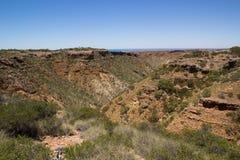 Charles Knife Canyon, Cape Range National Park. Near Exmouth, Western Australia Royalty Free Stock Photo