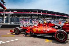 Charles Leclerc, Ferrari, Monaco 2019 stockbild