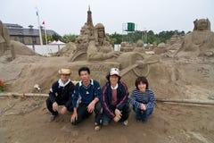 charles lindbergh sandsculptors Zdjęcia Royalty Free