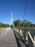 Charles miasta Iowa zawieszenia most Zdjęcie Stock