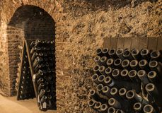 Charles Mignon Old Bottles Royaltyfria Foton