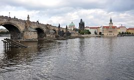 Charles most, Praga, republika czech, Europa Fotografia Stock