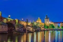 Charles most republika czech - Prague - zdjęcie royalty free
