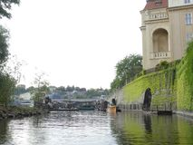 Charles most Vltava rzeka Widok na Vltava Charl i rzece Zdjęcie Royalty Free