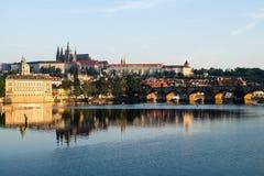 Charles most w Praga - republika czech Obrazy Royalty Free