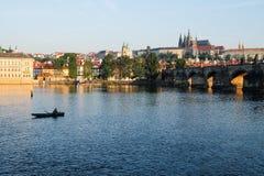 Charles most w Praga - republika czech Zdjęcia Royalty Free